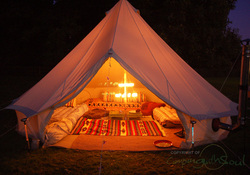 Our Bell Tents - Cheap Gl&ing u0026 Luxury C&ing England! & Luxury Camping England - Apple Wood Glamping